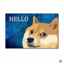 Rubber Doormat For Entrance Door Floor Mat Non-slip Hello Funny Dog mat Decorative Non-woven Indoor Outdoor