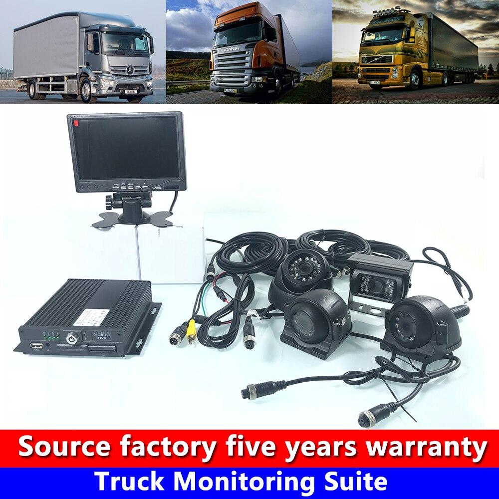 4-canal 720 P visão HD noite conjunto de monitoramento do veículo de transporte de caminhão/veículo comercial/colheitadeira CSMV6 monitoramento plataforma