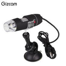 Buy online Gizcam Portable 1000x Digital USB Microscope 8 LED Endoscope HD Magnifier Video Camera High Quality Microscopio Gift