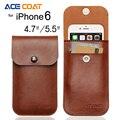 Para iphone 6 6 s estojo de couro de luxo saco coque capa para iphone6 6 s casos de telefone moda manga