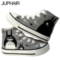 JUP Men fit Student Girls Couples Gift Shoes Totoro Despicable Me Minion Mouse Bay Max Hand Painted Graffiti Canvas High Shoes