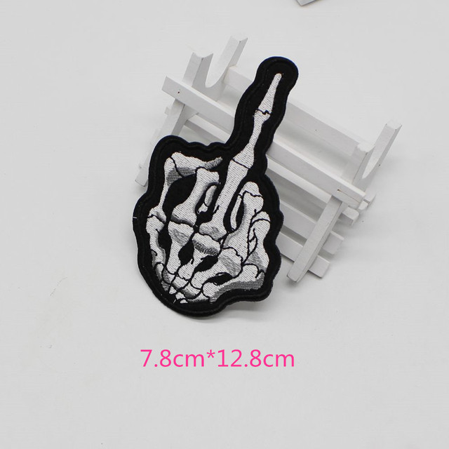 5pcs Lot High Quality Finger Skeleton Skeleton Patch Cycling
