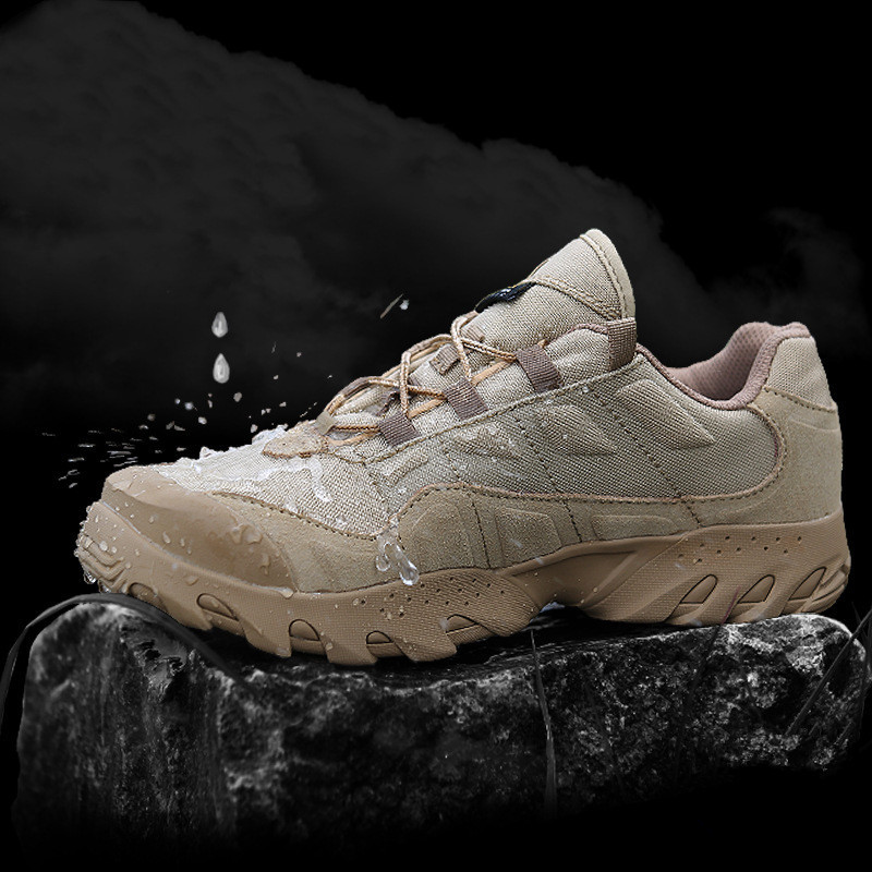 Tactical Training Outdoor Climbing Camping Desert Boots Waterproof Anti Prick Hiking Sneakers Breathable Nylon Wearproof Shoes
