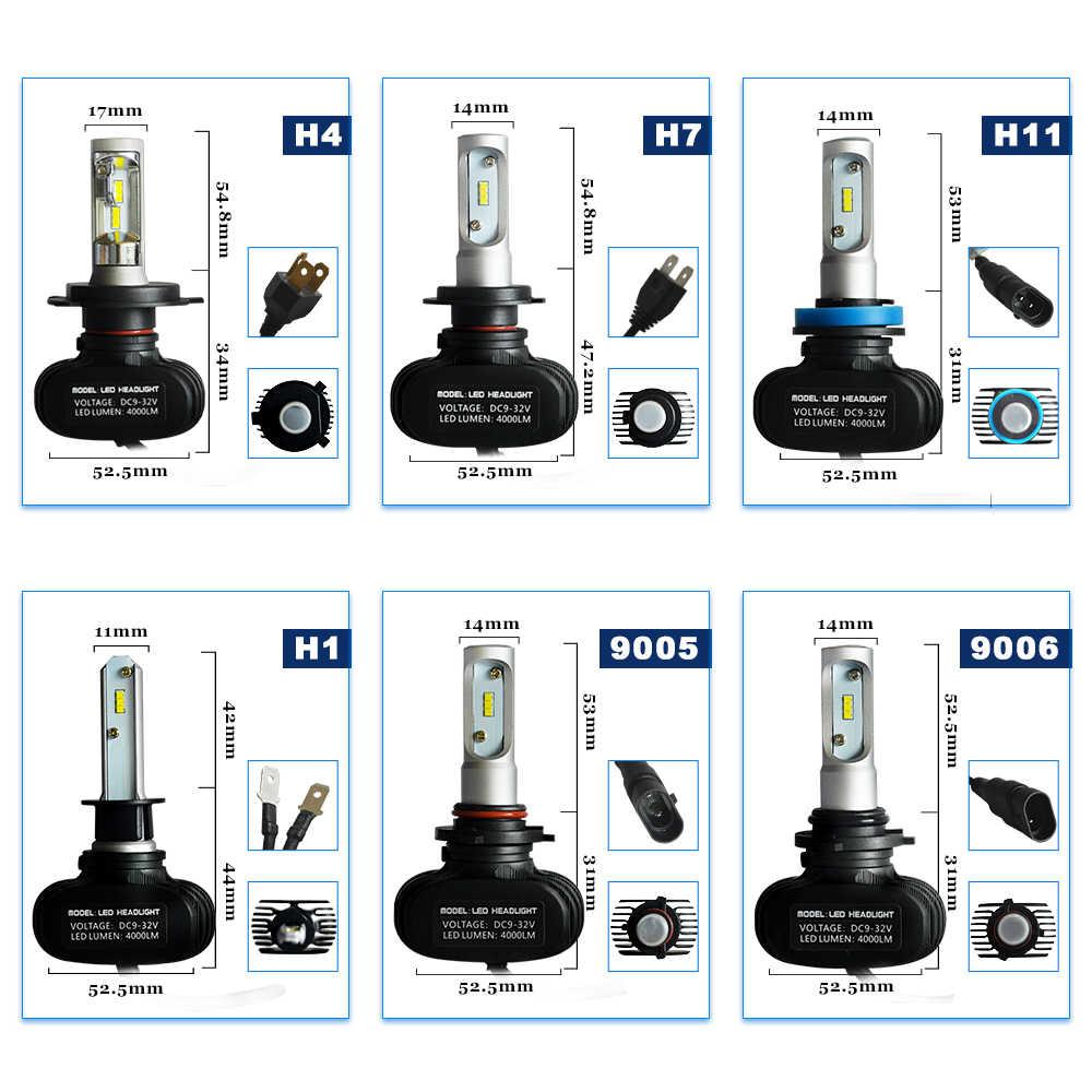 2 шт. H7 Светодиодные Автомобильные фары H4 hi/lo луч 9005 9006 H3 H1 H11 Авто Противотуманные фары 50 Вт 8000LM 6500 к белый свет CSP чипы автомобильная лампа