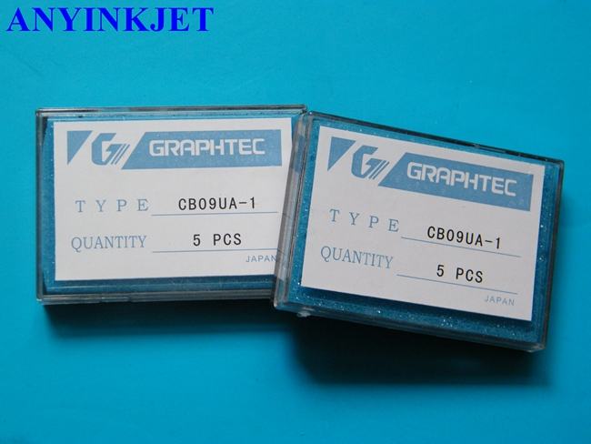 10 pcs 45 degree Graphtec CB09 Blade with spring for CB09 GRAPHTEC VINYL CUTTER PLOTTER in Printer Parts from Computer Office