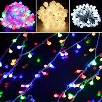 10m 70leds 110v 220v Outdoor Lighting LED Ball String Lamp Transparent Wire Christmas Light Fairy Wedding