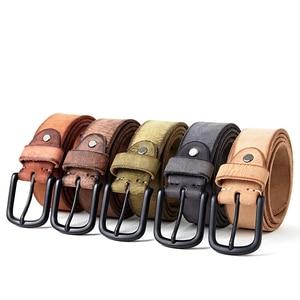 Image 5 - FRALU men high quality genuine leather belt luxury designer belts men cowskin fashion Strap male Jeans for man cinturon hombre