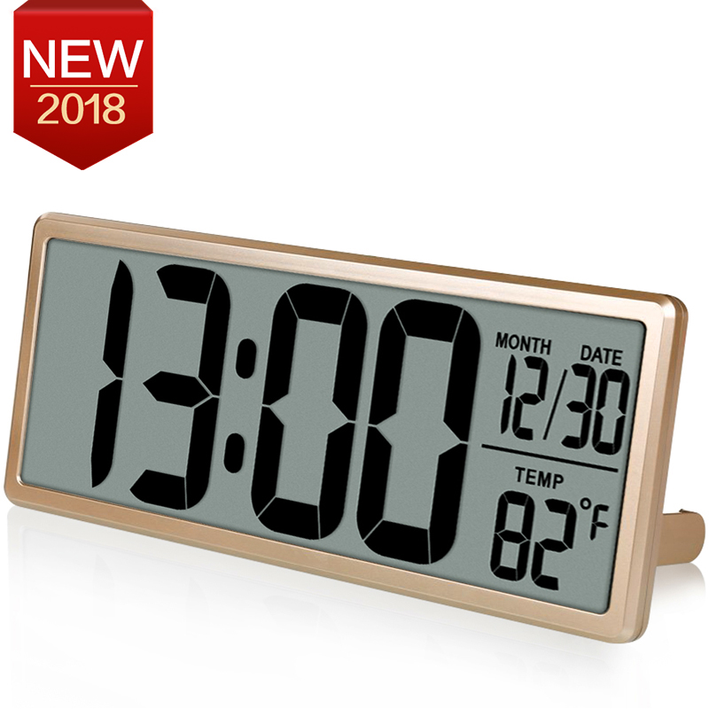 13.8 Large Digital Wall Clock, Jumbo desk Alarm Clock, Oversize LCD Display, multi-functional upscale office decor, Time Tool