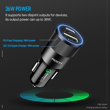 Rock PD Fast Charge Car Charger for Smartphone