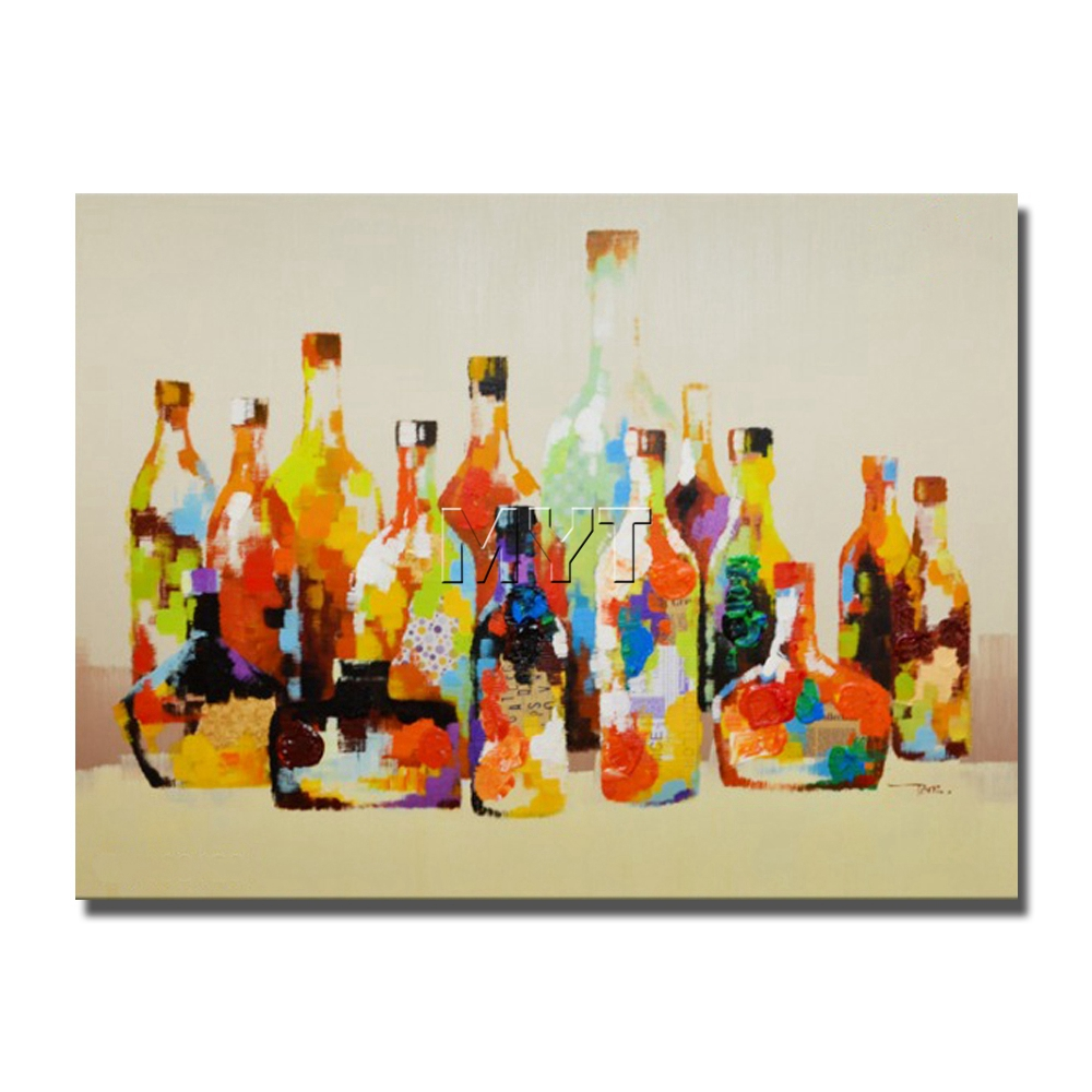 Abstract Color Bottle Oil Painting On Canvas Modern Wall Art Wholesale for Sale no Framed and With Framed Home Decoration