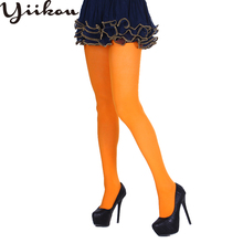 Female Halloween Solid Color Pantyhose Women Festival Party Girl Ghost Monochrome Stockin