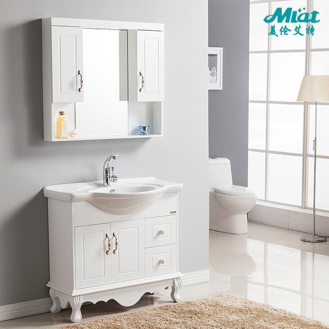 Jane European PVC Bathroom Cabinet Oak Bathroom Cabinet Wood Floor Bathroom  Washbasin Cabinet Combination Handwashing 2030