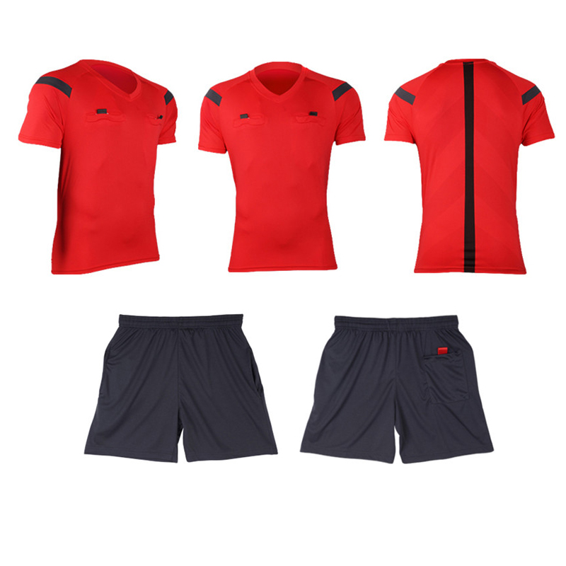 Referee Jersey Soccer Set 2017 Football Judge uniform Futbol Shirt Suit Tracksuits survetement football maillot de foot 1