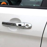 For Ford Explorer 2011 2015 Abs Chrome Door Handle Cover Trim Styling With Smart Key Hole