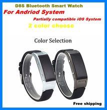 D8S Bluetooth Smart Uhr Schrittzähler Call Reminder Beantwortung Telefon Smartwatch Fernbedienung Anti-verlorene Schlaf-monitor Armbanduhr