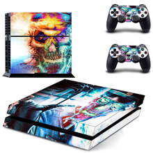 Halloween Hit The Color Skull Vinyl Skin Sticker Cover for Sony PS4 PlayStation 4 and 2 controller skins