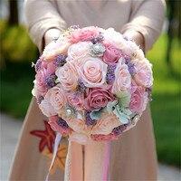 Graceful Wedding Flowers Bridal Bouquet Bridal Bridesmaid Bouquet Bride Wedding Bouquet Bride Holding Artificial Flowers Roses