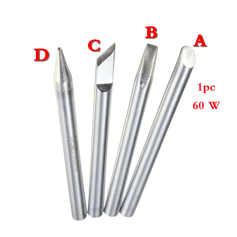 1pc 60W Electronic Soldering Iron Tips Solder Iron Head Welding Tip For Soldering Repair Station Four Shapes For Optional