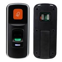 Rfid autônomo leitor de controle acesso fechadura da impressão digital biométrico controlador acesso porta abridor suporte cartão sd