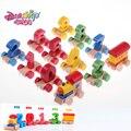 DANNIQITE Деревянный Весело Цифровой Поезд Игрушки Дети Детские Развивающие Игрушки Раннего Детства Обучающие Поезд