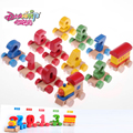 DANNIQITE Wooden Fun Digital Train Toys  Kids Baby Developmental Toys Early Childhood Educational Train Set