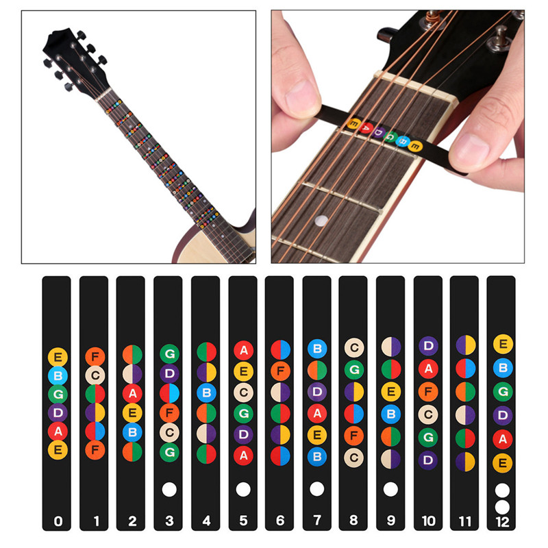 6 Strings Acoustic Guitar Fretboard Note Decal Fingerboard Sticker Label Frets Scale For Musical Stringed Instruments Lover savarez 510 cantiga series alliance cantiga normal high tension classical guitar strings full set 510arj