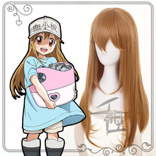Hataraku Saibou Cells At Work Blood Platelet Brown Cosplay Wig + Cap