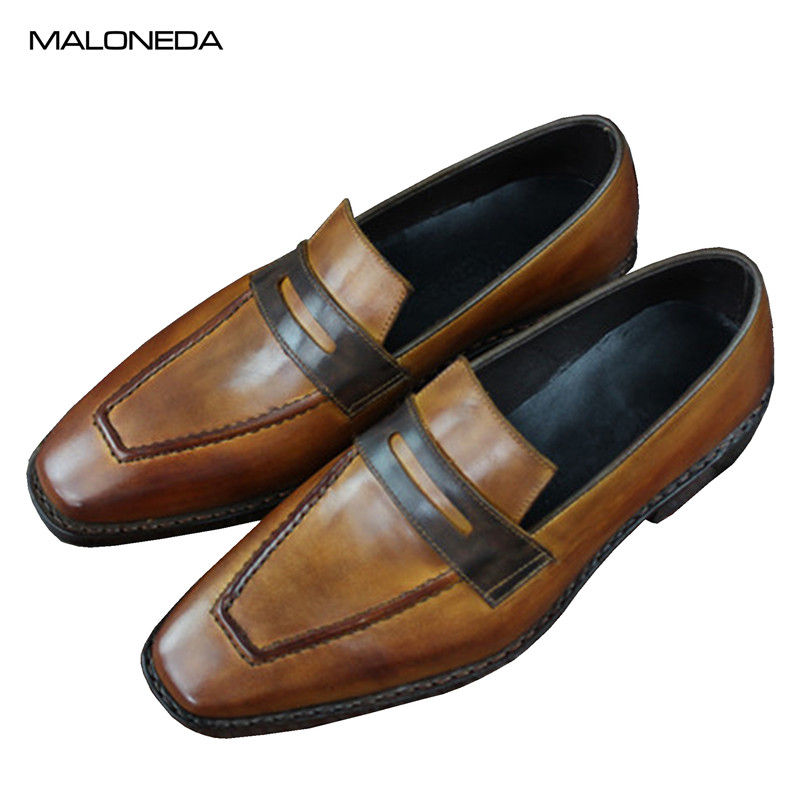 MALONEDA Brand New Custom Made Casual Handmade Goodyear Loafers Pure Leather Slip on Shoes For Men guess guess ubr31103s