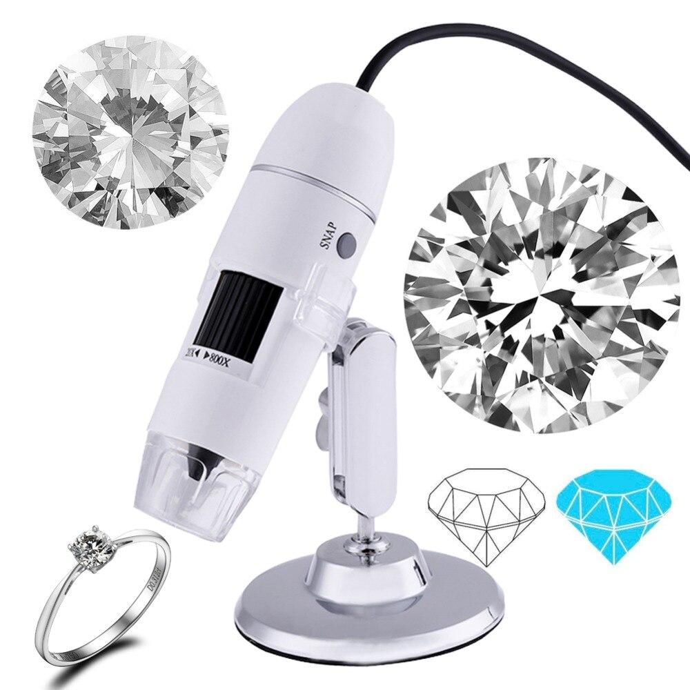Профессиональный USB цифровой микроскоп 1000X 800X 8 LED 2MP электронный микроскоп Эндоскоп зум Камера лупа + подъемная подставка
