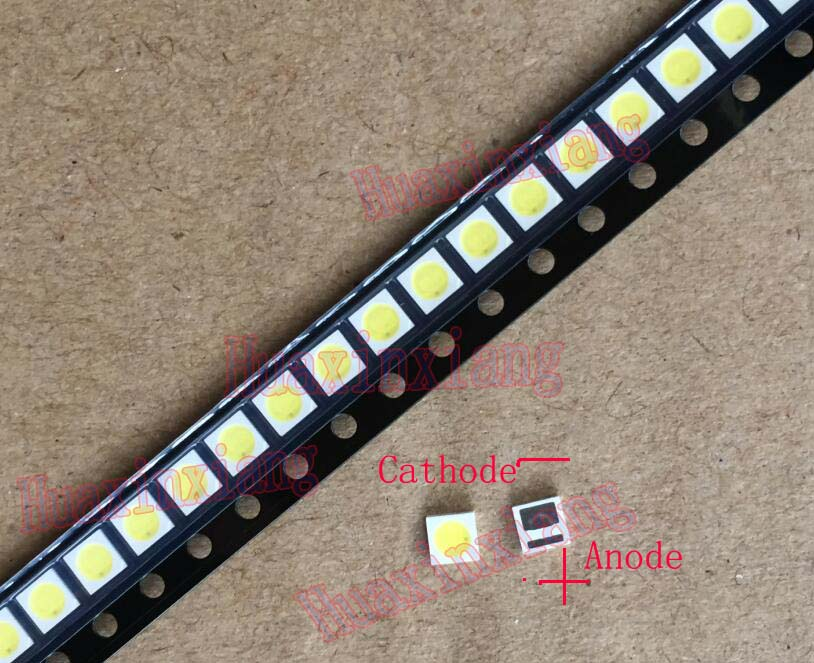 50PCS/Lot Everlight SMD LED 3030 6V 1W Cool White For TV Backlight Application 3.0*3.0mm 50pcs lot fr9220