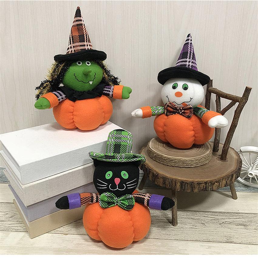 2018 Halloween Toy Pumpkin Doll Ghost Witch Black Cat