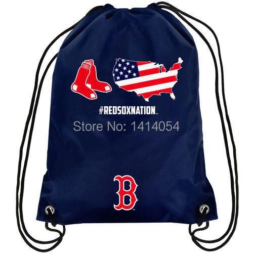 Boston Red Sox NATION Drawstring Backpack 35x45CM MLB Digital Printing Polyester Custom Sports Backpack, free shipping