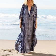 Chiffon Beach Cover up Tunics for Print Bikini Saida Praia Beachwear
