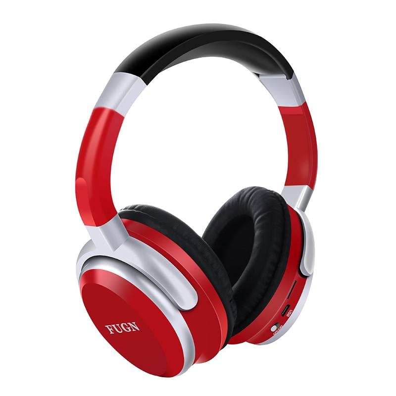 FUGN FG-08 Bluetooth Stereo Wireless Headphones Bluetooth 4.2 Headset Foldable Design Build-in Mic Handfree MP3 player ks 509 mp3 player stereo headset headphones w tf card slot fm black