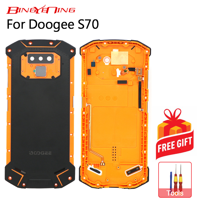 BingYeNing New For Doogee S70 Battery Case Protective Battery Case Back Cover+Power Volume Cable+Fingerprint cable+Camera Glass-in Phone Bumpers from Cellphones & Telecommunications on AliExpress - 11.11_Double 11_Singles' Day 1