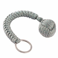 Monkey Fist Steel Ball Outdoor Security Protection Bearing Self Defense Lanyard Survival Tool Key Chain Multifunctional Keychain 5