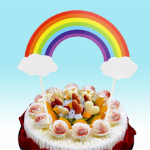 CRLEY 5pcs Rainbow Acrylic Wedding Birthday Party