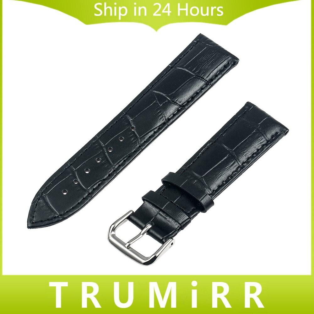 Genuine Leather Watch Band for Casio BEM EF SHN G SHOCK MTP Men Women Croco Strap