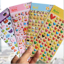 Lovely animal and heart 3D Bubble Stickers Cute Animal Sticker Creative diy Gift  Stationery School supplies papelaria WJ0188