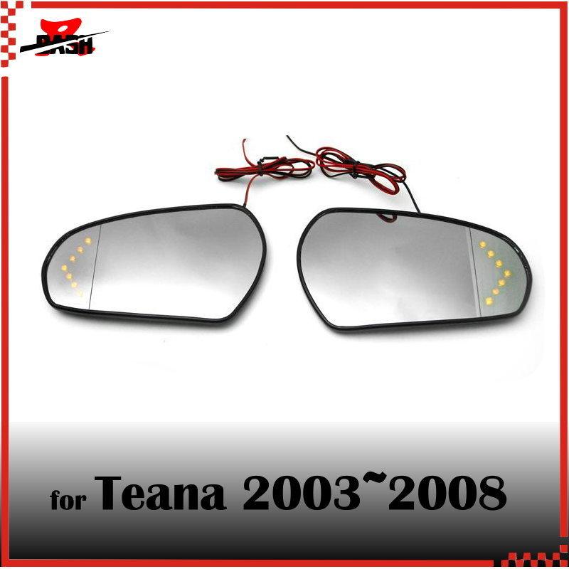 DASH for Nissan Teana 2003 2008 J31 LED signal arrow side mirror lens glass amber arrow