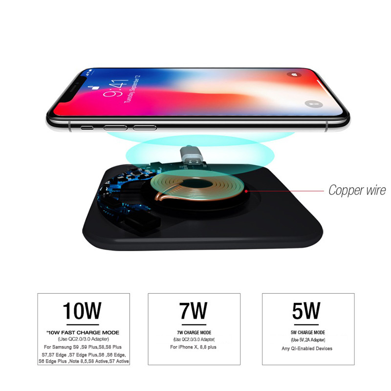 US $9 32 19% OFF Qi Wireless Fast Charger Pad Fo LG V35 V30S ThinQ V30  Smartphone Case Charging Mobile Phone Accessories Charging Pad universal-in