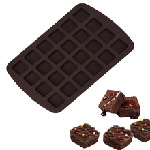 Dropshipping Cake Make 24-Cavity Silicone Brownie Squares Baking Mold