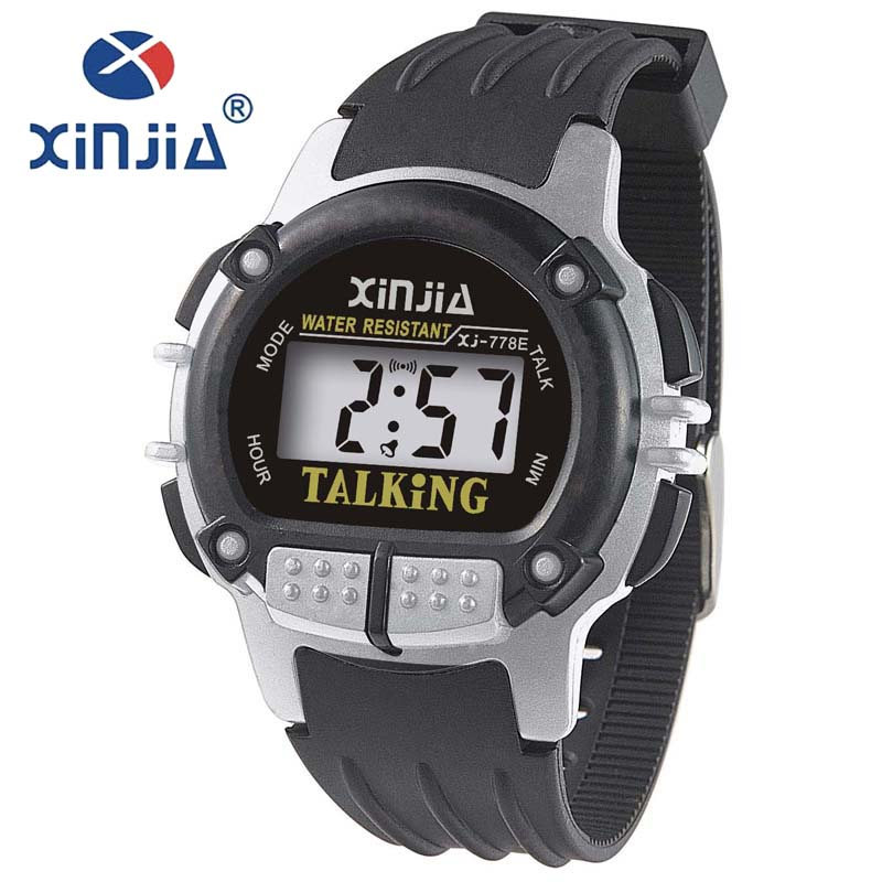 compare prices on talking watch for blind online shopping buy low xinjia simple men talking watch speak russian blind electronic digital sports wristwatches for blind people reloj hombre 778