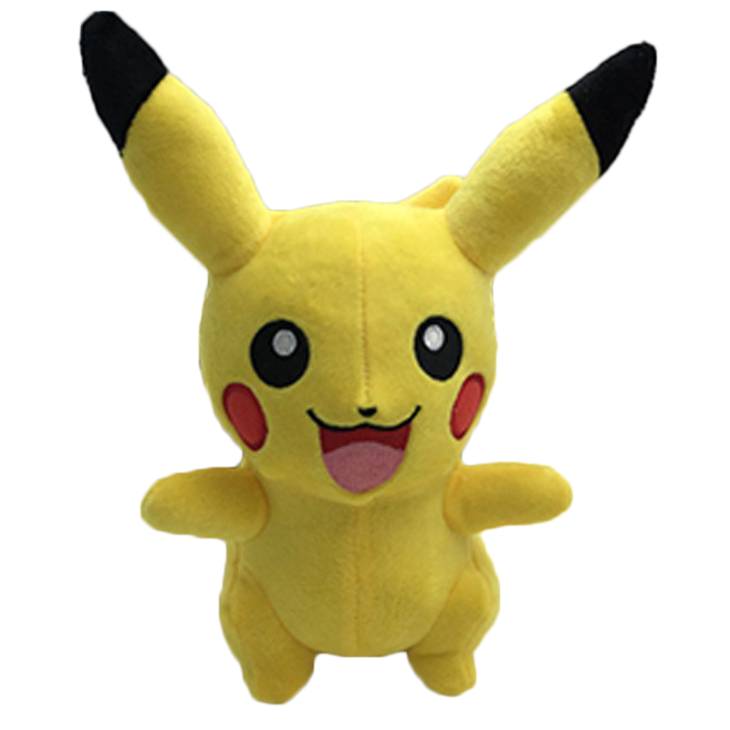 Cute 25cm Pikachu Plush Toys Hot Anime Character Plush Toys Childrens Christmas Gift Toy Kids Cartoon Peluche Pikachu Plush Doll 22cm pikachu plush toys children gift cute soft toy cartoon pocket monster anime kawaii baby kids toy pikachu stuffed plush doll