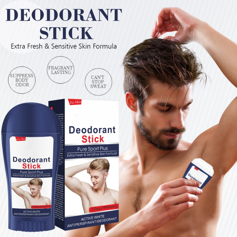 Men's Body  Antiperspirant Deodorant Stick Armpits Brightening Beads Body Lotion Rotating Ball Body Care Cream Underarm Removal