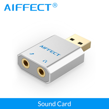 AIFFECT USB Sound Card  External USB to Jack 3.5mm Audio Cable Microphone Headphone Adapter for PC Computer Laptop Phone цены онлайн