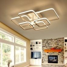 Led Chandelier lighting for living room bedroom Square Rings AC85-265V Led Ceiling chandelier Lamp Fixtures lustre plafonnier цены онлайн