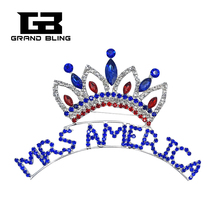 Fantastic Crown Brooch Jewelry with Words MRS AMERICA for Ladies of United States