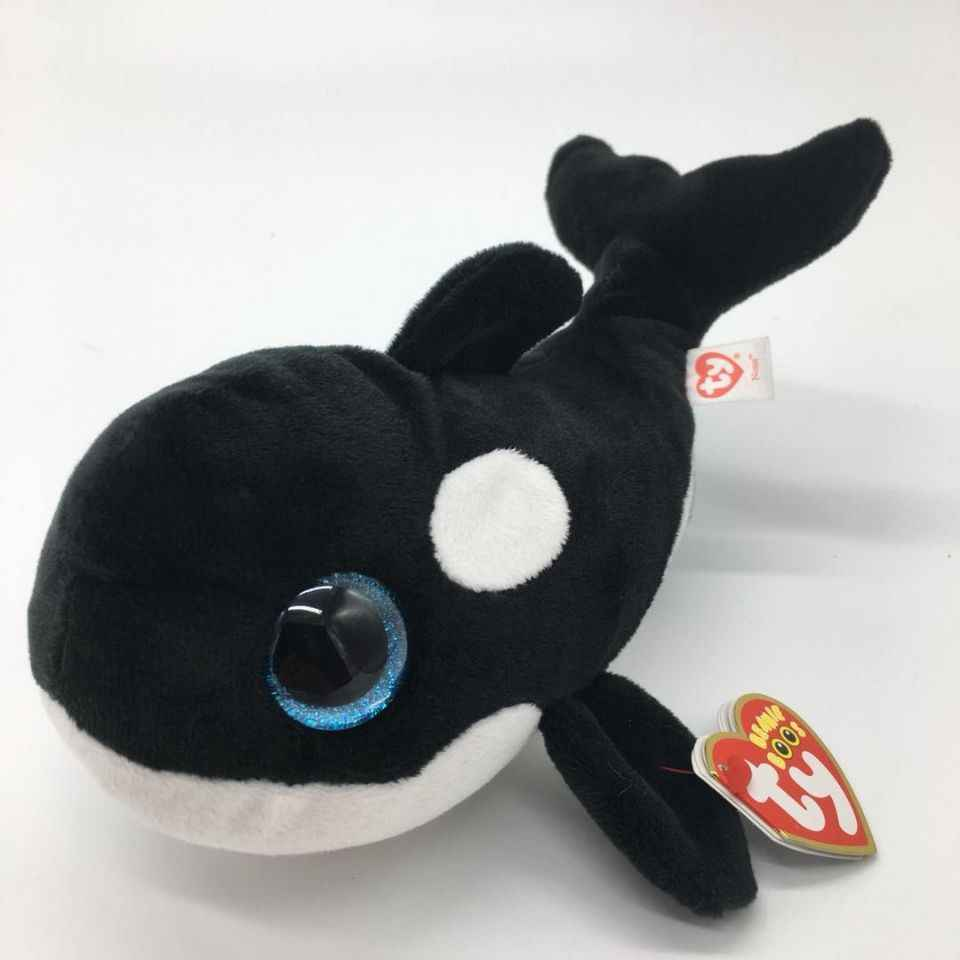 3b42b441282 ... TY BEANIE BOOS 1PC 15CM nona whale Orcinus orca fish Plush Toys Stuffed  animals KIDS TOYS ...