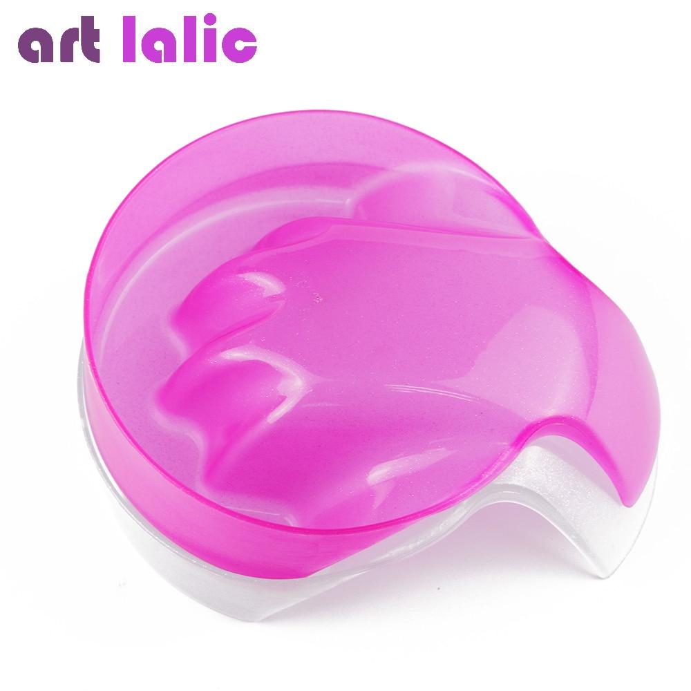 Artlalic 1pc Pink Clear Nail Art Hand Wash Remover Soak Bowl Salon Glitter Nail Spa Bath Treatment Manicure Care Bowl